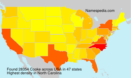 Surname Cooke in USA