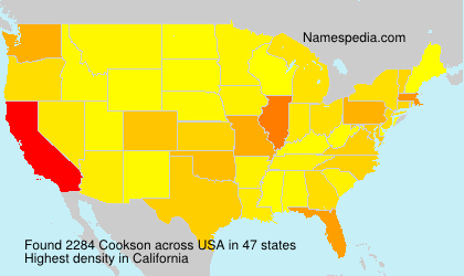 Surname Cookson in USA