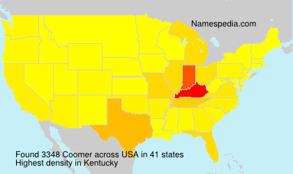 Surname Coomer in USA