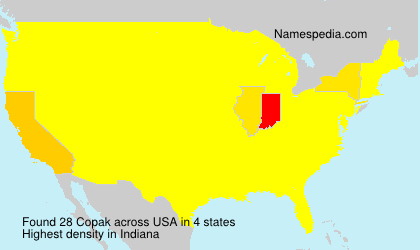 Surname Copak in USA