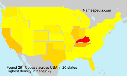 Surname Copass in USA