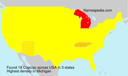 Surname Copciac in USA