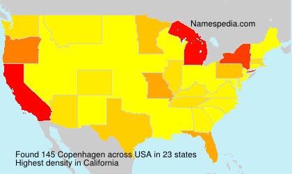 Surname Copenhagen in USA