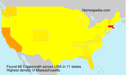 Surname Coppenrath in USA