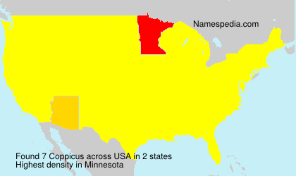 Surname Coppicus in USA