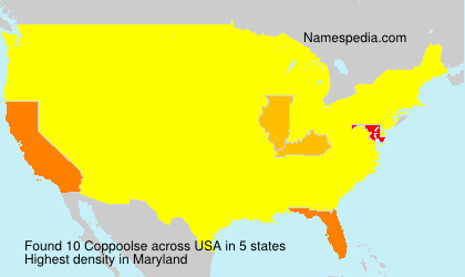 Surname Coppoolse in USA
