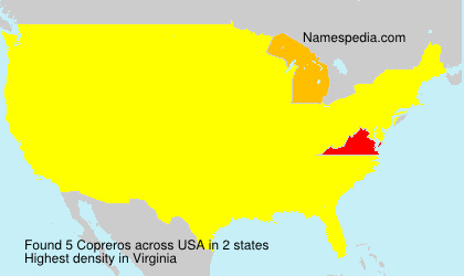 Surname Copreros in USA