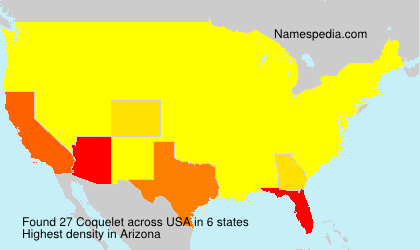 Surname Coquelet in USA