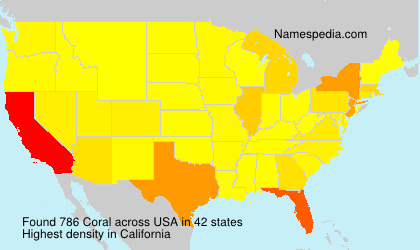 Surname Coral in USA