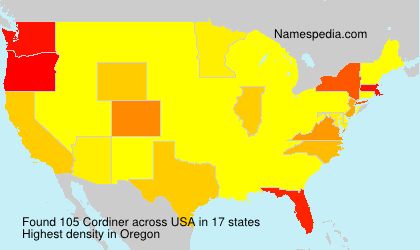 Surname Cordiner in USA