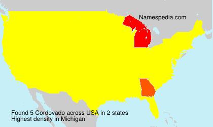 Surname Cordovado in USA