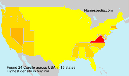 Surname Corelle in USA