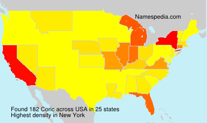 Familiennamen Coric - USA
