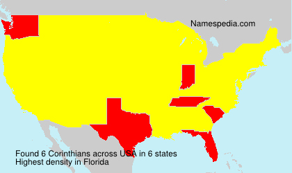 Surname Corinthians in USA