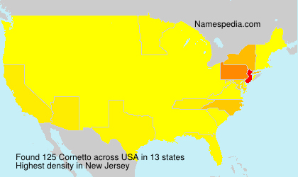 Surname Cornetto in USA