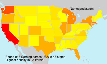 Surname Corning in USA