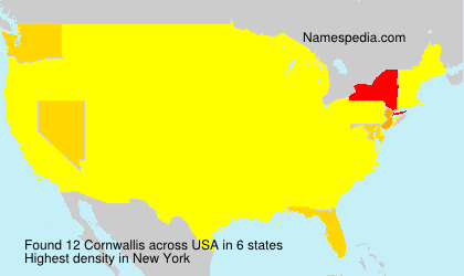 Surname Cornwallis in USA