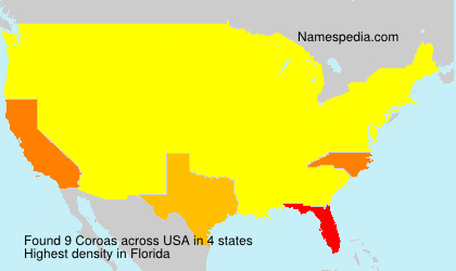 Surname Coroas in USA
