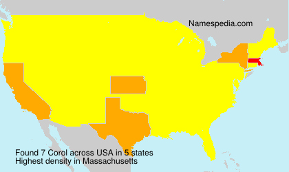Surname Corol in USA