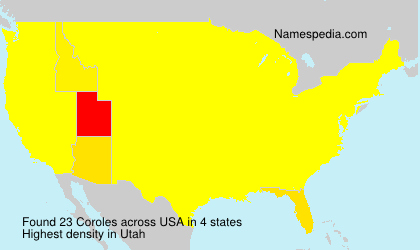 Surname Coroles in USA