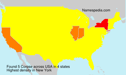 Surname Corpse in USA