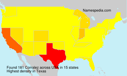 Surname Corralez in USA
