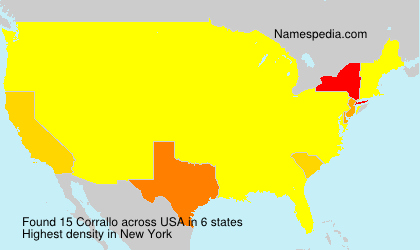 Surname Corrallo in USA