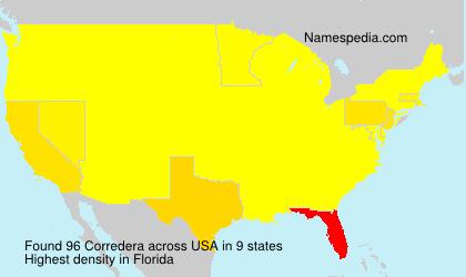 Familiennamen Corredera - USA