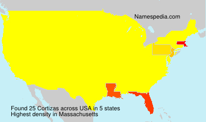 Surname Cortizas in USA