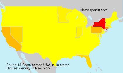 Surname Corto in USA