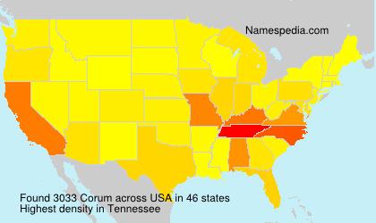 Surname Corum in USA