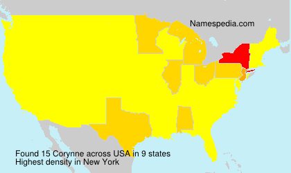 Surname Corynne in USA