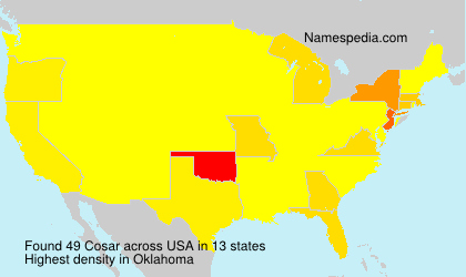 Surname Cosar in USA