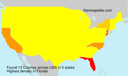 Surname Cosmey in USA