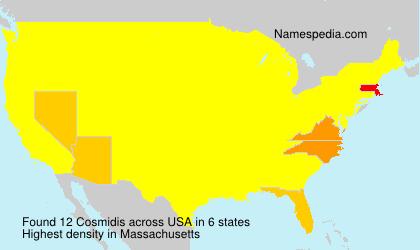 Surname Cosmidis in USA