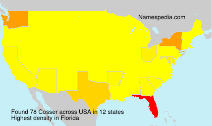Surname Cosser in USA