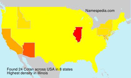 Familiennamen Cotan - USA
