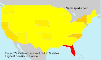 Familiennamen Cotarelo - USA