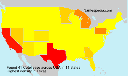 Surname Cotellesse in USA