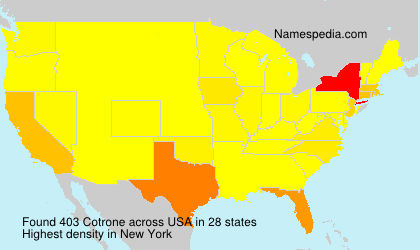 Surname Cotrone in USA