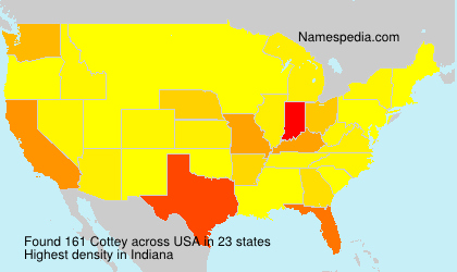 Surname Cottey in USA