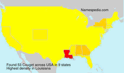Surname Couget in USA