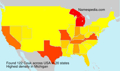 Surname Couk in USA
