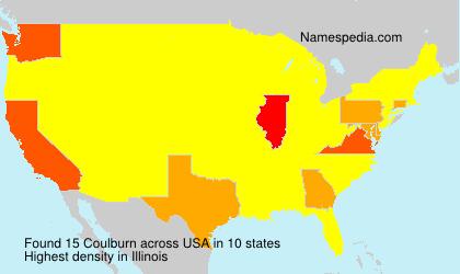 Familiennamen Coulburn - USA