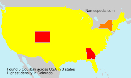 Surname Coulibali in USA