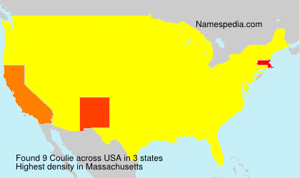 Surname Coulie in USA
