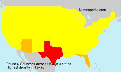 Surname Coulstock in USA