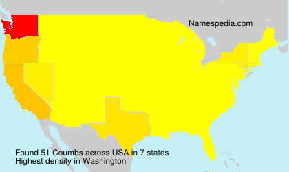 Surname Coumbs in USA