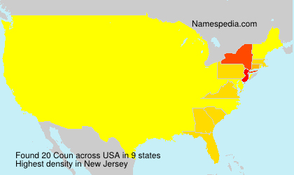 Surname Coun in USA