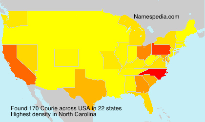 Surname Courie in USA
